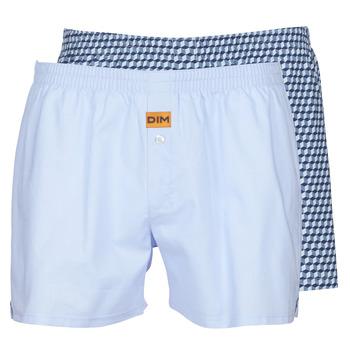 Spodní prádlo  Muži Trenýrky DIM BOXER FLOTTANT x2 Modrá
