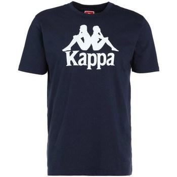 Textil Muži Trička s krátkým rukávem Kappa Caspar Tshirt Tmavomodré