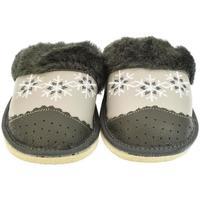 Boty Ženy Papuče John-C Dámske sivé papuče MAJKA tmavosivá