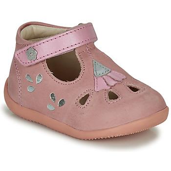 Boty Dívčí Sandály Kickers BLUPINKY Růžová / Stříbrná