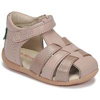 Boty Dívčí Sandály Kickers BIGFLO-2 Růžová