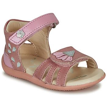 Boty Dívčí Sandály Kickers BICHETTA Růžová