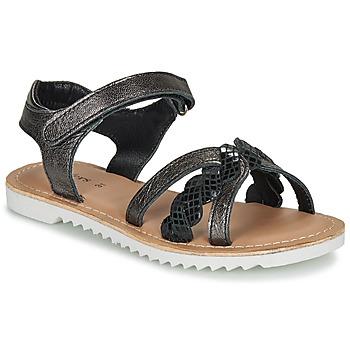Boty Dívčí Sandály Kickers SHARKKY Černá