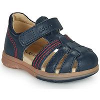 Boty Chlapecké Sandály Kickers PLATIBACK Tmavě modrá
