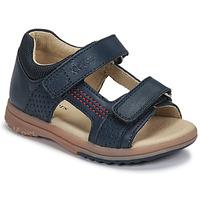 Boty Chlapecké Sandály Kickers PLAZABI Tmavě modrá