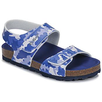 Boty Chlapecké Sandály Kickers SUMMERKRO Modrá