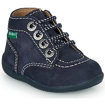 Boty Děti Kotníkové boty Kickers BONZIP-3 Tmavě modrá
