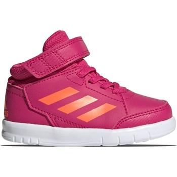 Boty Dívčí Kotníkové tenisky adidas Originals Altasport Mid EL I Růžové