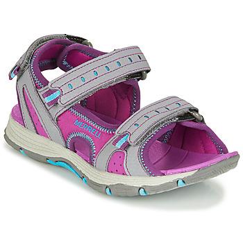 Boty Dívčí Sportovní sandály Merrell PANTHER SANDAL 2.0 Růžová / Šedá