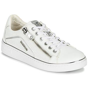 Boty Ženy Nízké tenisky Mustang  Bílá / Stříbřitá
