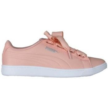 Boty Ženy Nízké tenisky Puma Vikky V2 Ribbon Bílé, Růžové