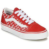 Boty Děti Nízké tenisky Vans Old Skool Červená / Bílá