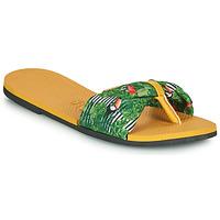 Boty Ženy Žabky Havaianas YOU SAINT TROPEZ Žlutá / Zelená