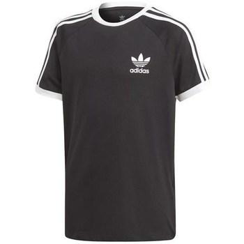 Textil Děti Trička s krátkým rukávem adidas Originals Originals 3 Stripes Černé