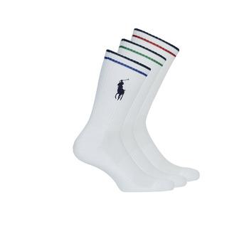 Doplňky  Muži Ponožky Polo Ralph Lauren 3PK BPP-SOCKS-3 PACK Bílá