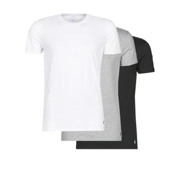 Textil Muži Trička s krátkým rukávem Polo Ralph Lauren WHITE/BLACK/ANDOVER HTHR pack de