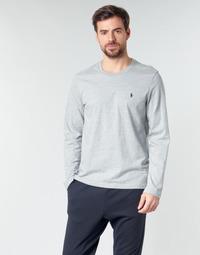 Textil Muži Trička s dlouhými rukávy Polo Ralph Lauren L/S CREW-CREW-SLEEP TOP Šedá