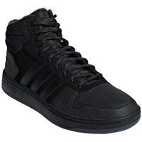 Boty Muži Kotníkové tenisky adidas Originals Hoops Mid 20 Černé