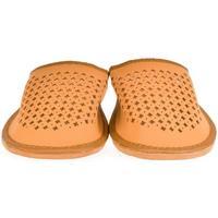 Boty Muži Papuče John-C Pánske hnedé papuče LUKY hnedá