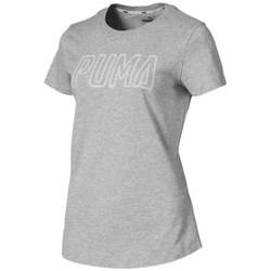 Textil Ženy Trička s krátkým rukávem Puma Athletics Logo Šedé