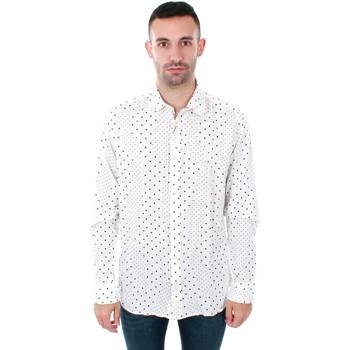 Textil Muži Košile s dlouhymi rukávy Jack & Jones 12153920 JPRSIDE SHIRT LS WHITE REG FIT Blanco