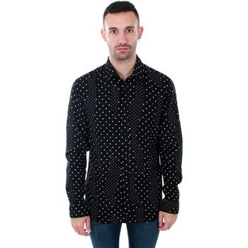 Textil Muži Košile s dlouhymi rukávy Jack & Jones 12153920 JPRSIDE SHIRT LS BLACK REG FIT Negro