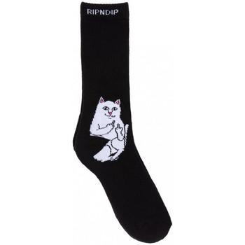 Textilní doplňky Muži Ponožky Ripndip Lord nermal socks Černá
