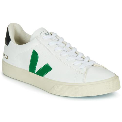 Boty Nízké tenisky Veja CAMPO Bílá / Zelená / Černá