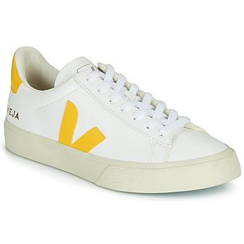 Boty Ženy Nízké tenisky Veja CAMPO Bílá / Žlutá