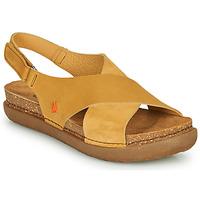 Boty Ženy Sandály Art RHODES Hořčicová