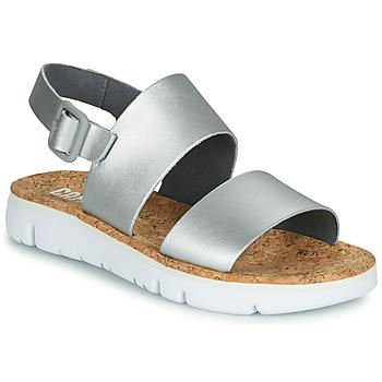 Boty Ženy Sandály Camper ORUGA Stříbřitá