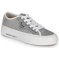 Boty Ženy Nízké tenisky Emporio Armani X3X109-XL487 Stříbrná