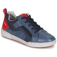 Boty Chlapecké Nízké tenisky Geox J POSEIDO BOY Tmavě modrá / Červená