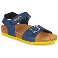 Boty Chlapecké Sandály Geox GHITA BOY Modrá / Žlutá