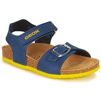 Boty Chlapecké Sandály Geox J GHITA BOY Modrá / Žlutá