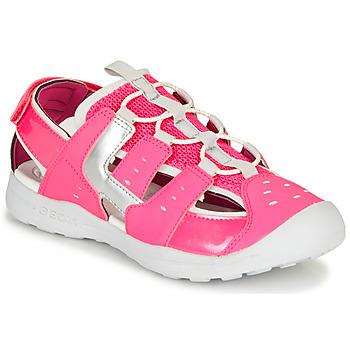 Boty Dívčí Sportovní sandály Geox J VANIETT GIRL Růžová / Stříbrná