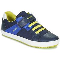 Boty Chlapecké Nízké tenisky Geox J GISLI BOY Tmavě modrá / Žlutá