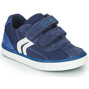 Boty Chlapecké Nízké tenisky Geox B KILWI BOY Modrá / Bílá