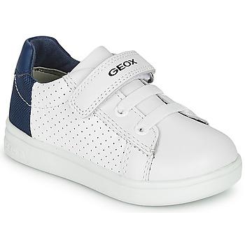 Boty Chlapecké Nízké tenisky Geox B DJROCK BOY Bílá / Modrá
