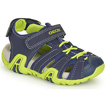 Boty Chlapecké Sportovní sandály Geox B SANDAL KRAZE Tmavě modrá / Zelená