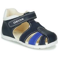 Boty Chlapecké Sandály Geox B ELTHAN BOY Tmavě modrá / Bílá