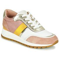 Boty Ženy Nízké tenisky Geox D TABELYA Růžová / Bílá / Žlutá