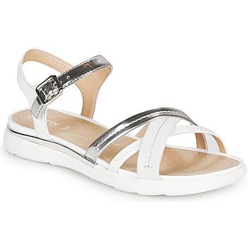 Boty Ženy Sandály Geox D SANDAL HIVER Stříbrná        / Bílá