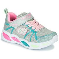 Boty Dívčí Multifunkční sportovní obuv Skechers SHIMMER BEAMS Stříbrná        / Růžová / Modrá