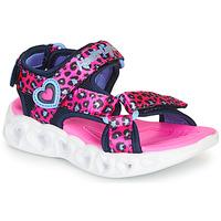 Boty Dívčí Sportovní sandály Skechers HEART LIGHTS Růžová / Černá
