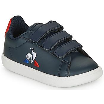 Boty Děti Nízké tenisky Le Coq Sportif COURTSET INF Tmavě modrá / Červená