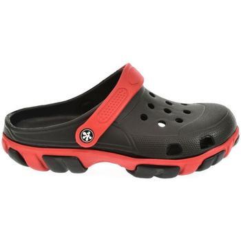 Boty Muži Pantofle John-C Pánske čierno-červené crocsy NIRO čierna