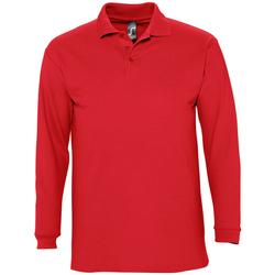 Textil Muži Polo s dlouhými rukávy Sols WINTER 2 CASUAL MEN Rojo