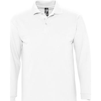 Textil Muži Polo s dlouhými rukávy Sols WINTER 2 CASUAL MEN Blanco
