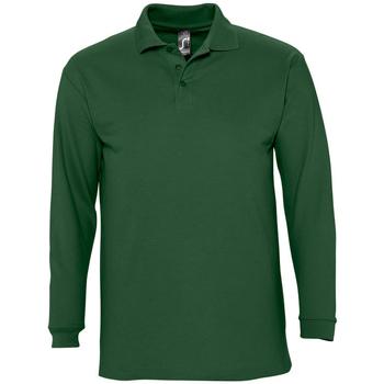 Textil Muži Polo s dlouhými rukávy Sols WINTER 2 CASUAL MEN Verde